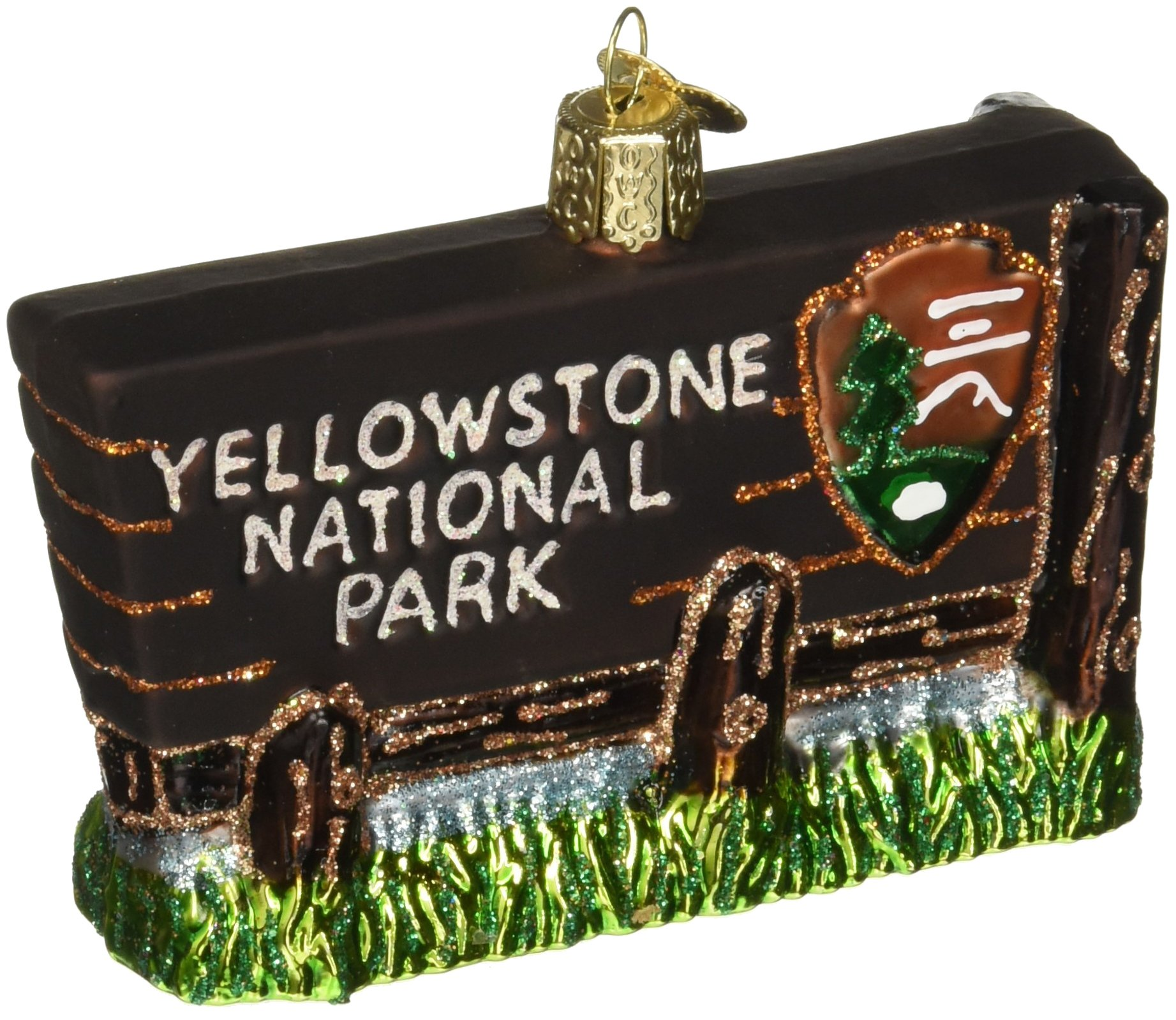Old World Christmas Yellowstone National Park Glass Blown Ornament