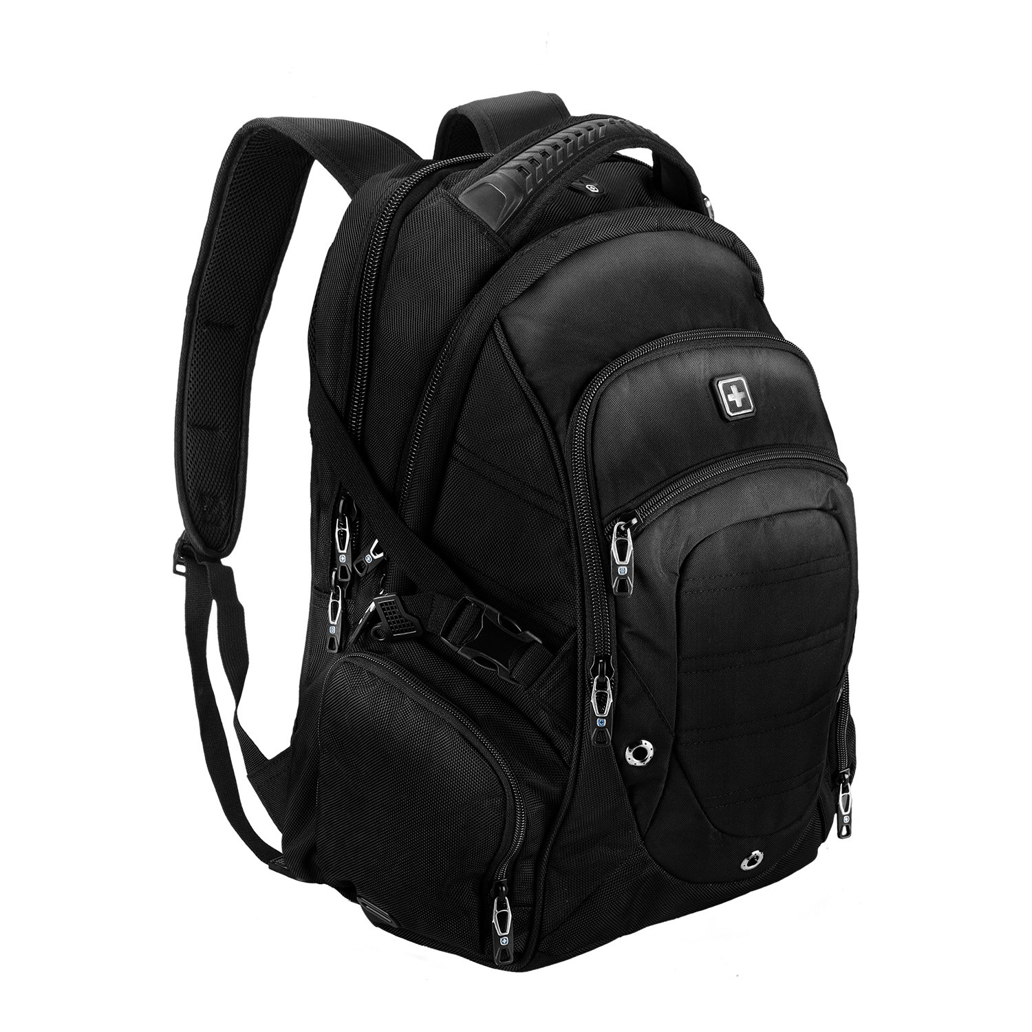 Suissewin big business travel outdoor mountain climbing computer backpack(SW9275I) (Black)