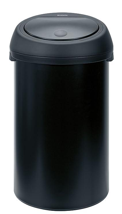 Brabantia Touch Bin 50 Liter Wit.Brabantia Touch Bin 50 L Matt Black