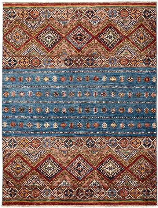 RUGCENTRE - Alfombra de jardín (190 x 150 cm), diseño clásico, Color Azul y marrón: Amazon.es: Hogar