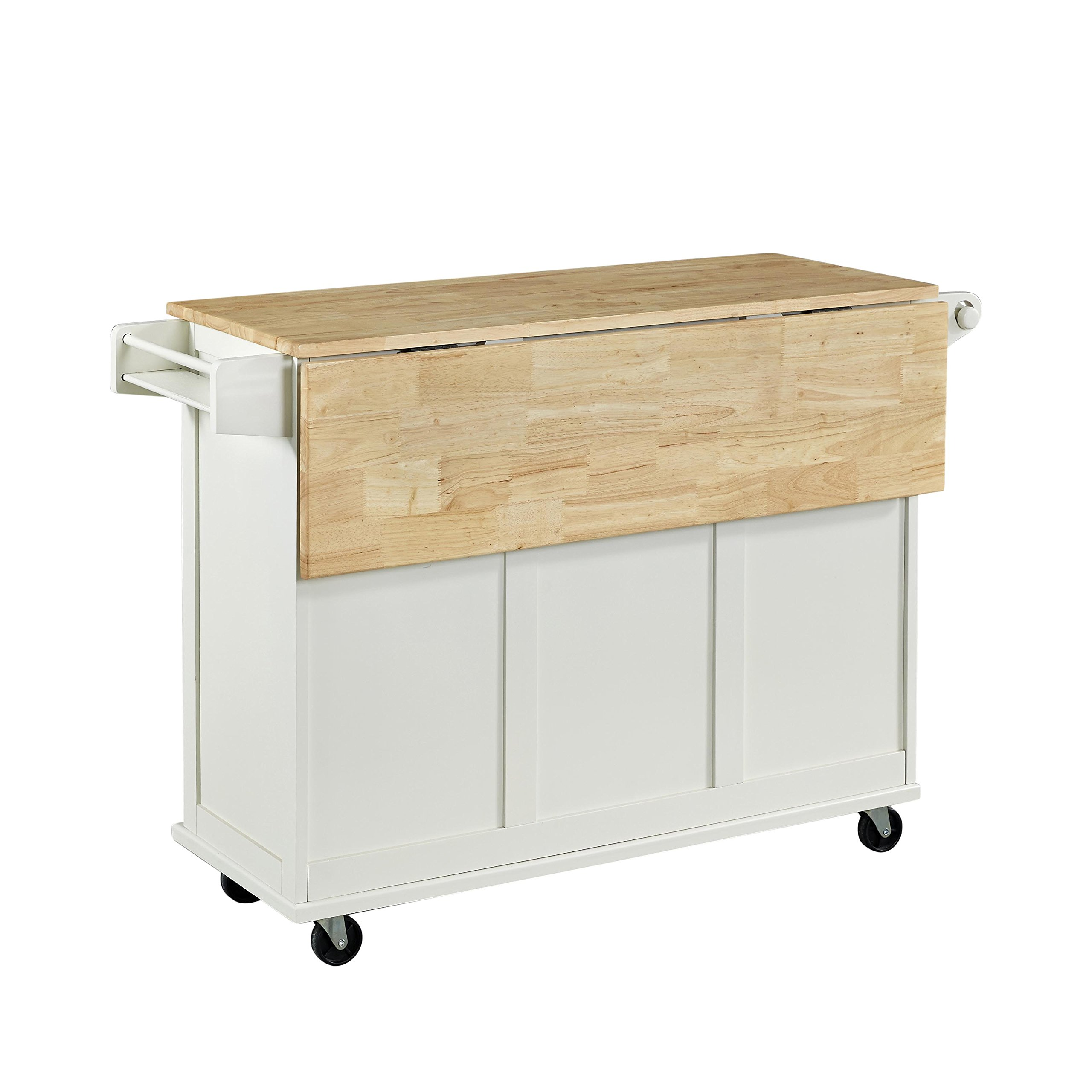 Home Styles 4511-95 Liberty Kitchen Cart with Wood Top, White by Home Styles (Image #2)