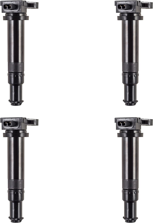 Set of 4 Ignition Coils Fits Hyundai Accent Kia Rio Rio5 1.6L UF499 C1543