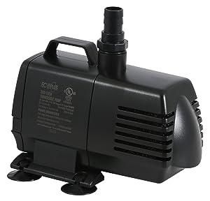 EcoPlus 1056 GPH (3785 LPH, 70W) Submersible Water Pump w/ 15 ft Power Cord   Aquarium, Fish Tank, Fountain, Pond, Hydroponics