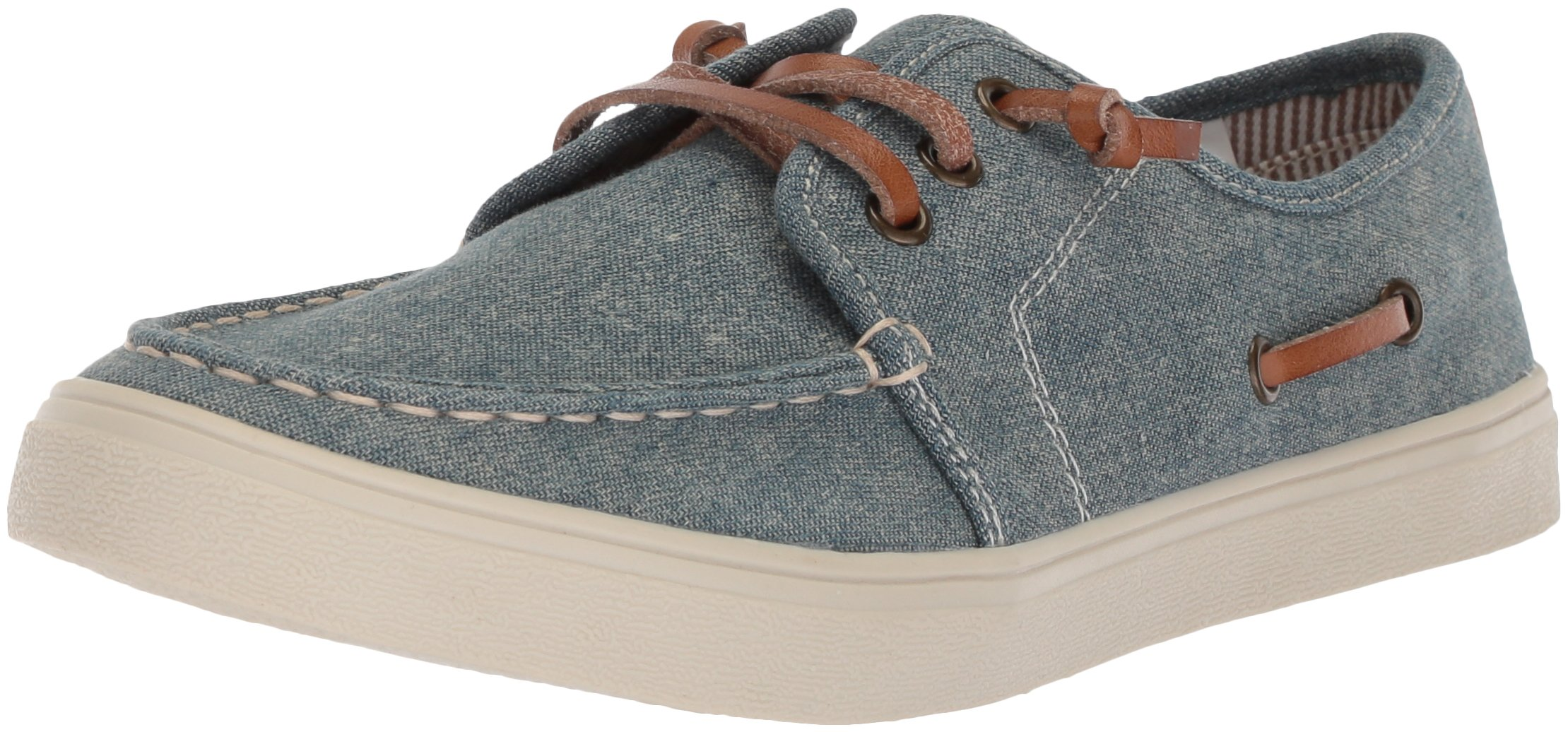 The Children's Place Boys' BB Laceup Street Slipper, Chambray, Youth 2 Medium US Big Kid