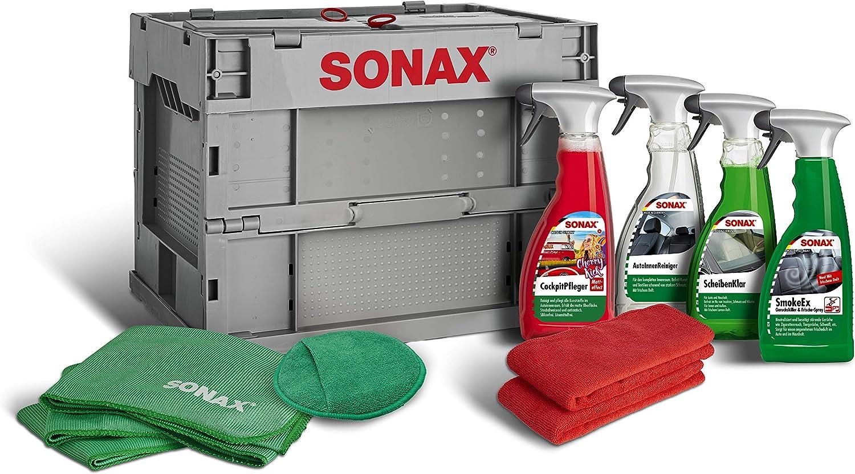 Sonax Truckerbox Paket Innenraumpflegebox 7 Teilig Hochwertige Produkte Zubehör Für Die Reinigung Und Pflege Im Innenraum Ideal Für Unterwegs Art Nr 07685410 Auto