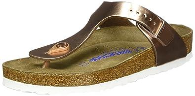 35b4e98c20c Birkenstock Gizeh Soft Footbed Regular Fit - Metallic Copper 1005048  (Man-Made) Womens