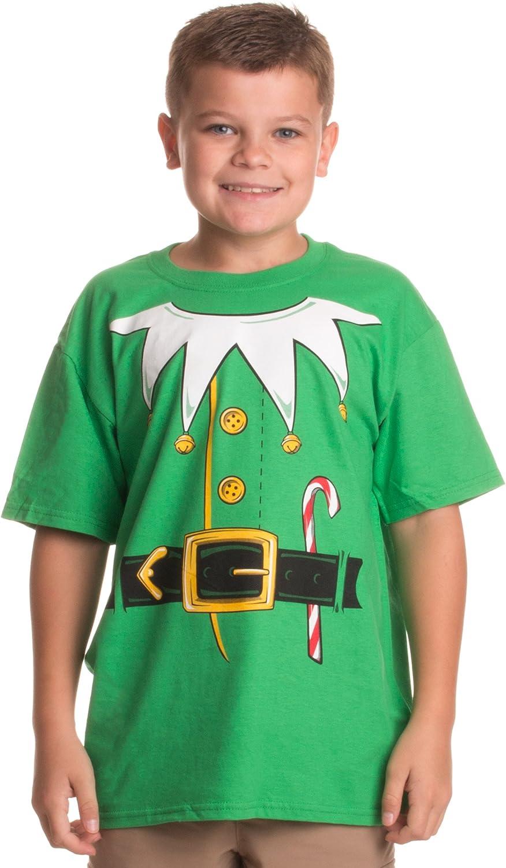 Santa's Elf Costume   Jumbo Print Novelty Christmas Holiday Humor Youth T-Shirt