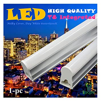 1 Pack Of Iekov 18w Integrated T8 Led Tube Light Fixture Replace Of 40w Fluorescent Tube Plug Play Ce Rohs Qualified 4ft 1 2m Day White