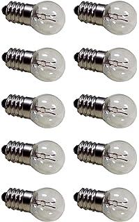 Pack Of 10 E10 Miniature Screw Base Light Bulbs 15V 03A