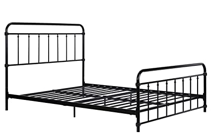 Amazon.com: DHP Wallace Metal Bed Frame in Black with Vintage ...