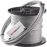 Seilwerk STANKE 50m PVC Drahtseil 3mm 6x7 verzinkt PVC ummantelt -- Stahlseil Wäscheleine Forstseil DIN Seil Draht Stahl kunststoffummantelt