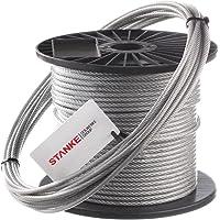 Seilwerk STANKE 100m Cuerda de Acero Galvanizada en