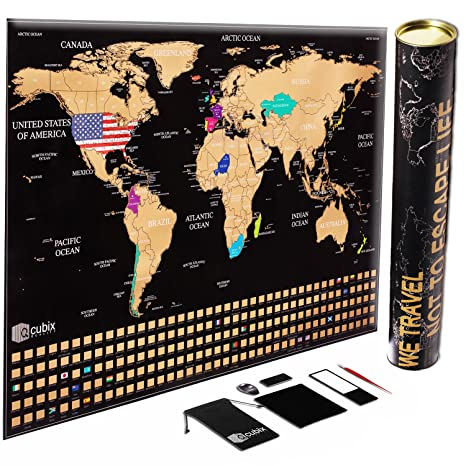 Amazon scratch off map of the world unique us flag edition scratch off map of the world unique us flag edition large size scratch off gumiabroncs Choice Image