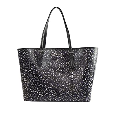 52c50efe7216 Michael Kors Illustrations Purple Stars Limited Edition Large Carryall Tote  Bag