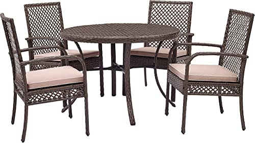 Crosley Furniture KO70154DW-SA Tribeca Outdoor Wicker Dining Set Dining Table and 4 Chair