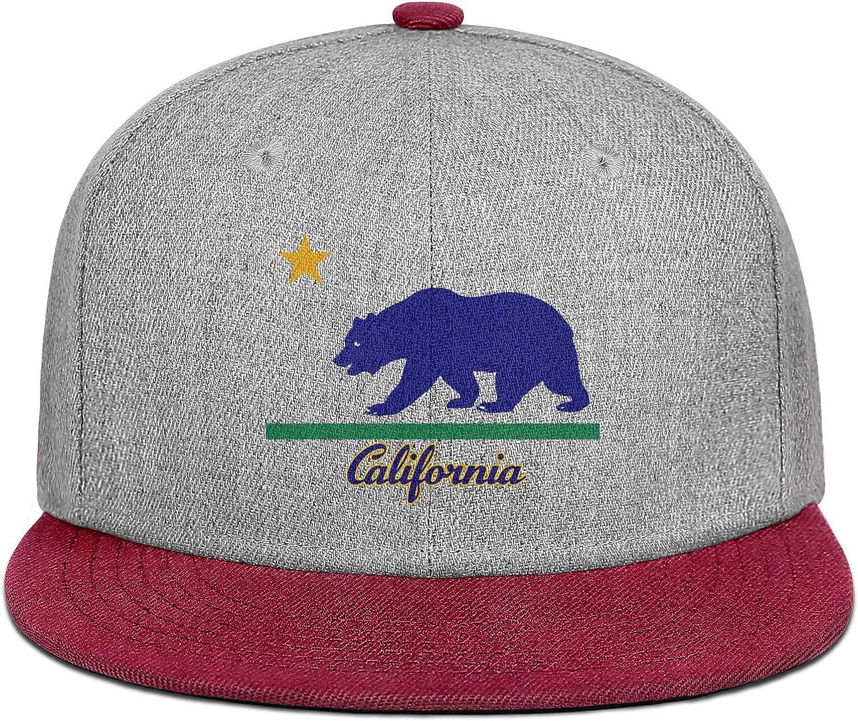 Mens Womens Baseball Hat California Roar Bear Snapback Casual Cap