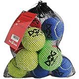 Insum - Pelota de tenis para perro (12 unidades, colorida, fácil de atrapar)