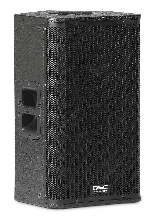 QSC KW122 1000W Negro altavoz - Altavoces (Universal, De 2 vías, 1.0 canales, montable en techo, Piso, Montar en la pared, Integrado, 30,5 cm (12