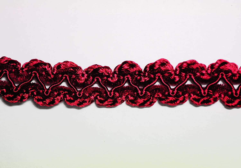 Altotux 0.75 France Braided Trim Craft Burgundy Red Sewing Notion Embellishment by Yard