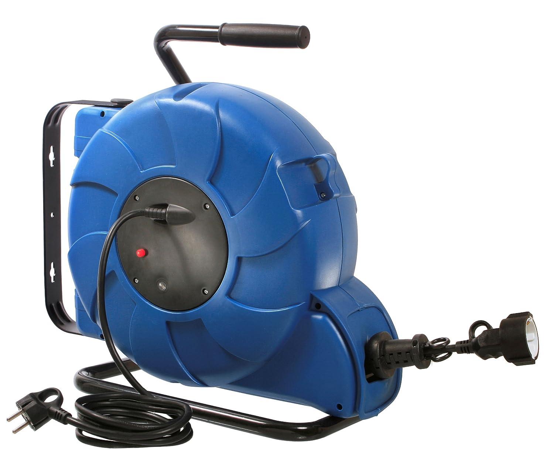 As - Schwabe 12632 Federzug-Kabeltrommel, 25 m H05VV-F 3G1.5, IP20 IP20 IP20 Innenbereich, blau B007ORZVRO | Gemäßigten Kosten  e7d582