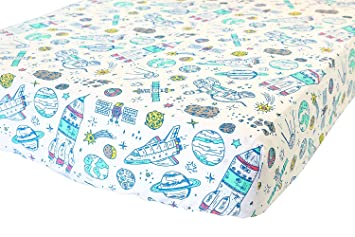 100 organic cotton fitted crib sheet by addison belle premium baby bedding soft