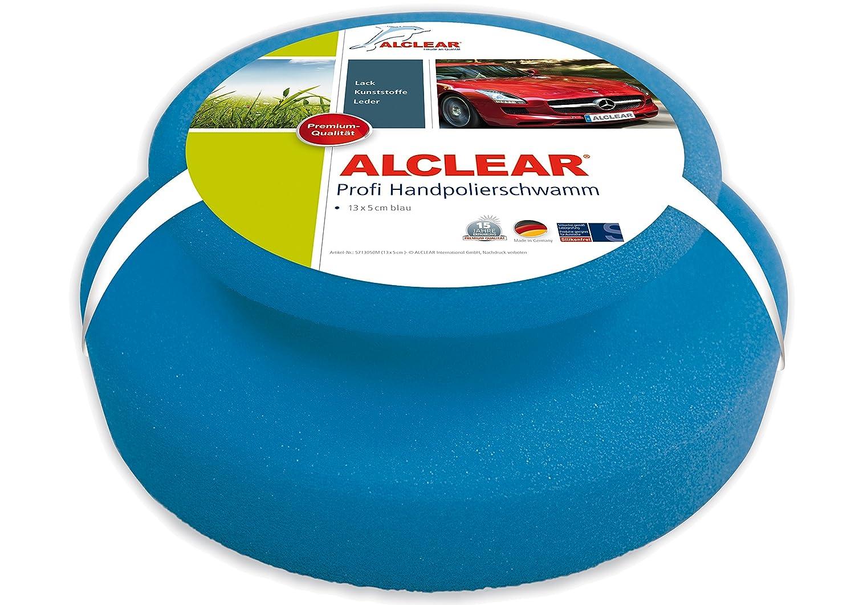 Bleu Les Produits lackreiniger ALCLEAR Profi handpolierschwamm 130 x 50 mm avec Joint poign/ée pour Les cires