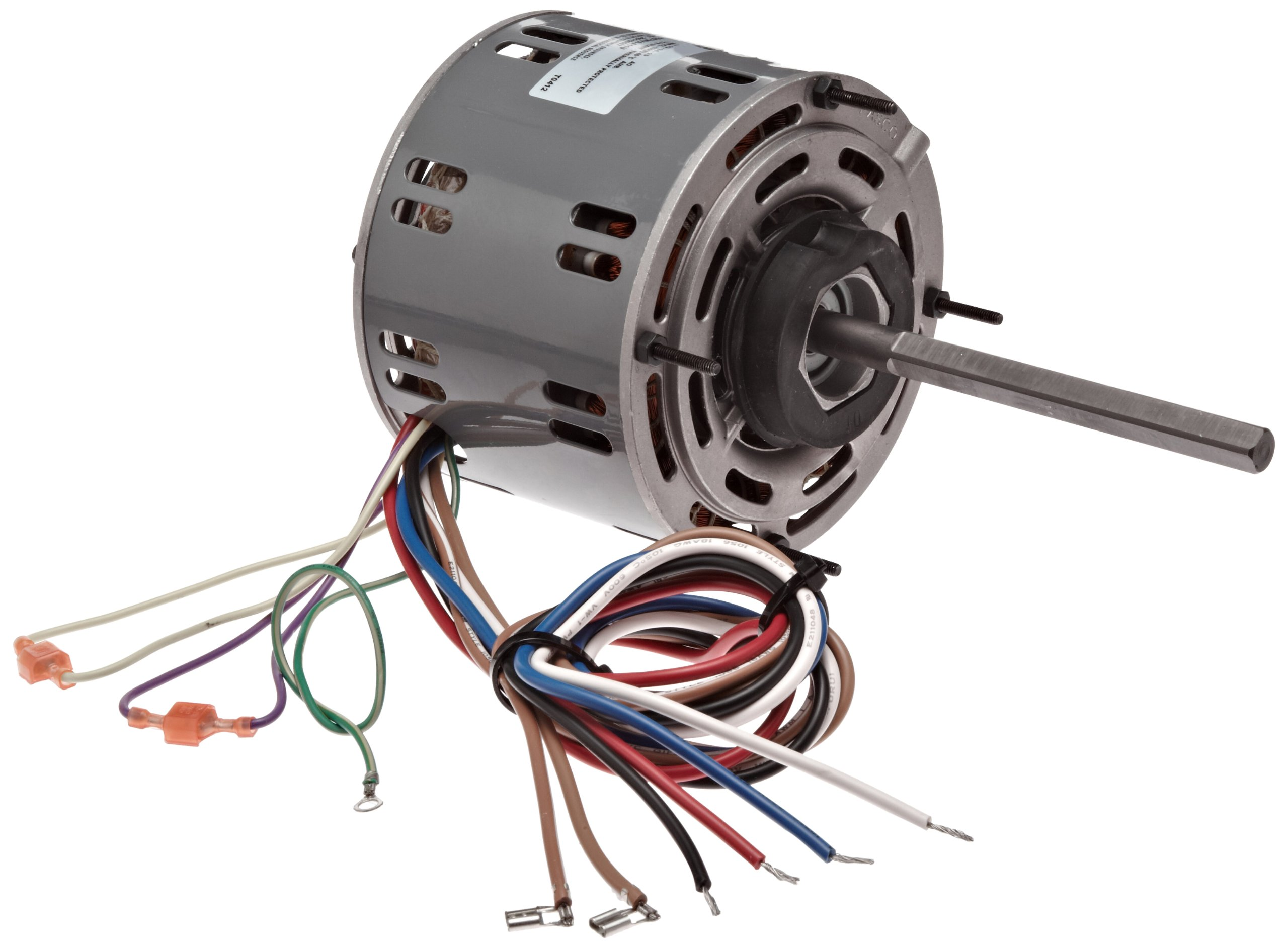 Fasco D727 5.6'' Frame Open Ventilated Permanent Split Capacitor Direct Drive Blower Motor with Sleeve Bearing, 1/3-1/4-1/5HP, 1075rpm, 115V, 60Hz, 5.9-4.6-3.8 amps
