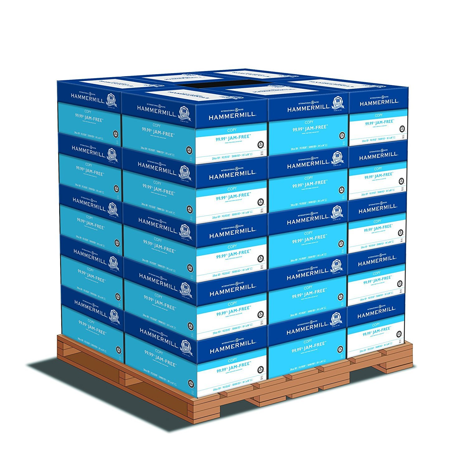 Hammermill Paper, Tidal Multipurpose, 8.5 x 14, Legal, 20lb, 92 Bright, 5000 Sheets per Carton - 30 Cartons per Pallet, 150,000 Sheets (162016PLT) Pallet Pricing, Made In The USA