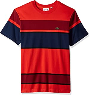 87460ac8 Lacoste Men's Tennis Short Sleeve Tech Pique Chest Tape Detail T ...