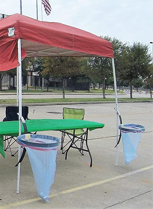 Hang N Out TOO Canopy Trash Bag Holder For Tailgating,