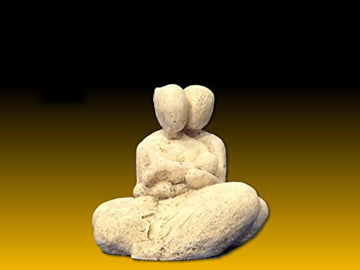 Skulptur familie mit 1 kind