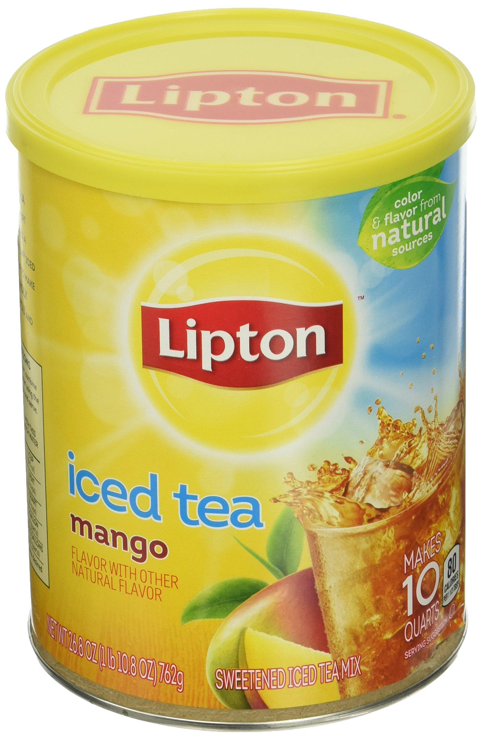 Amazon Com Lipton Iced Tea Mix Peach 10 Qt Pack Of 6