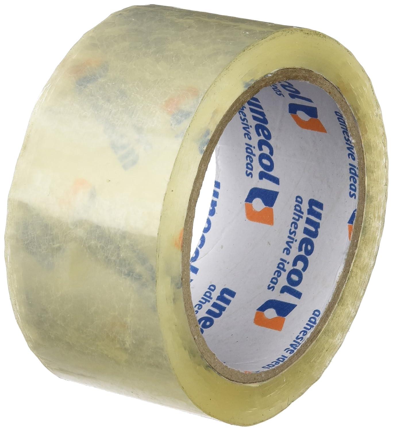 Unecol 8464 - Precinto (rollo, 66 m x 50 mm) color transparente Unecol Adhesive Ideas