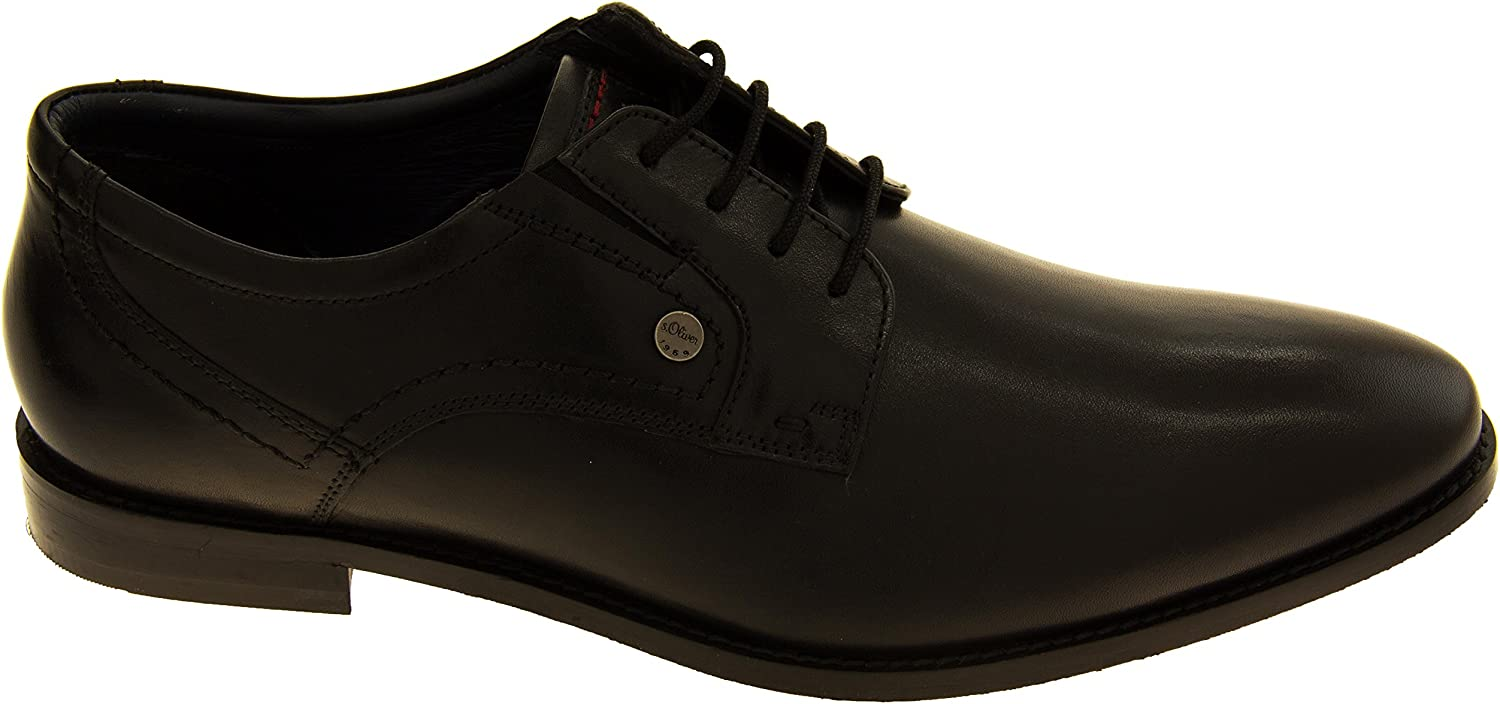S.oliver Mens 13208-27 Brown Leather Lace Up Formal Shoes