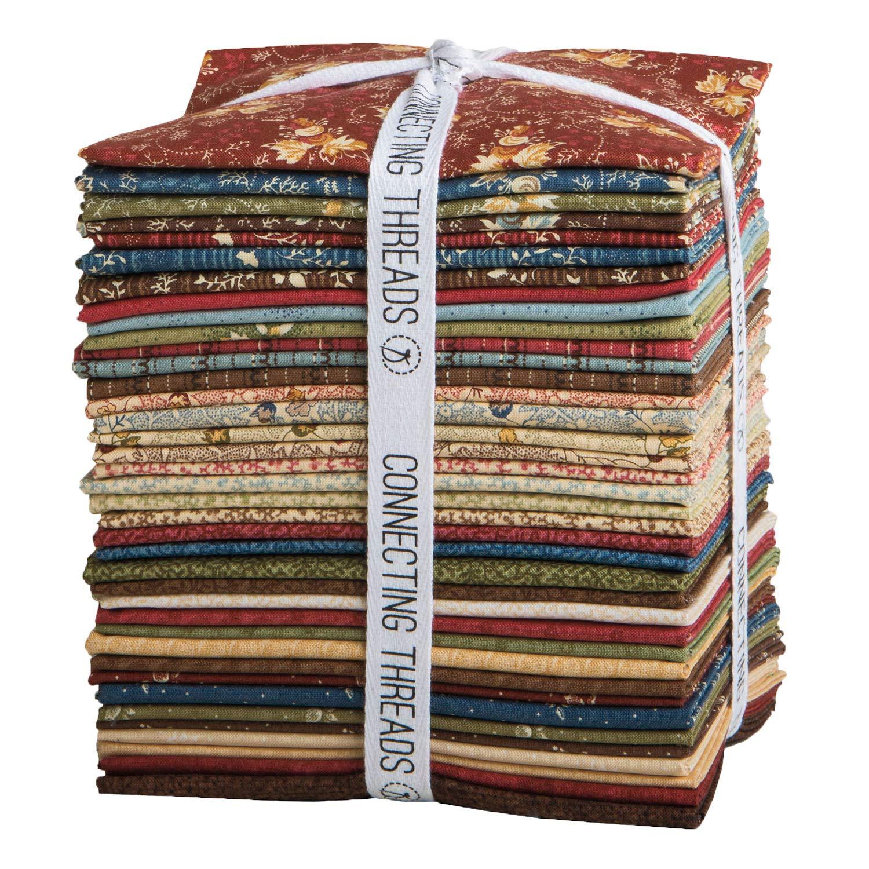 Connecting Threads Collection Precut Quilting Fabric Bundle (Clementine's Bonnet - Fat Quarters)