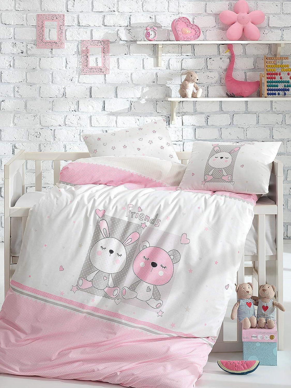 コットン100% ベビーボーイズ寝具5点セット ベビー掛け布団カバーセット ベビー掛け布団 象のテーマのベビーベッド寝具セット ブルーホワイト   B07GFHDSPG