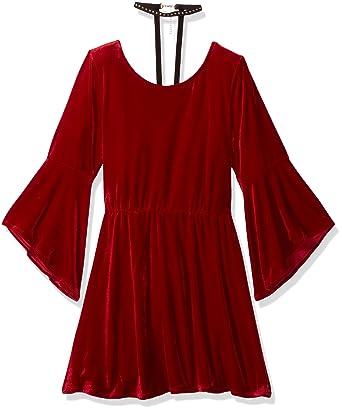 30eb16126 Amazon.com  My Michelle Girls  Big Velvet Dress with Bell Sleeves ...