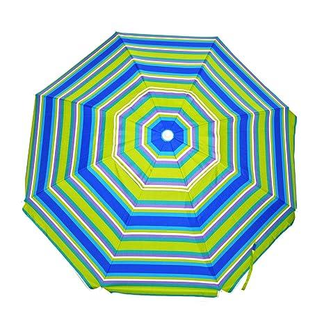 6c12d2b0ef Shadezilla 7.5 ft. Deluxe Beach Umbrella UPF 100 with Tilt/Air Vent