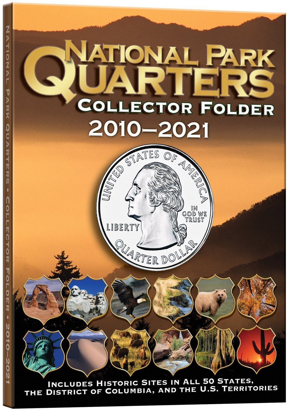 Amazoncom National Park Coin Single Mint Folder - Us quarter collector map