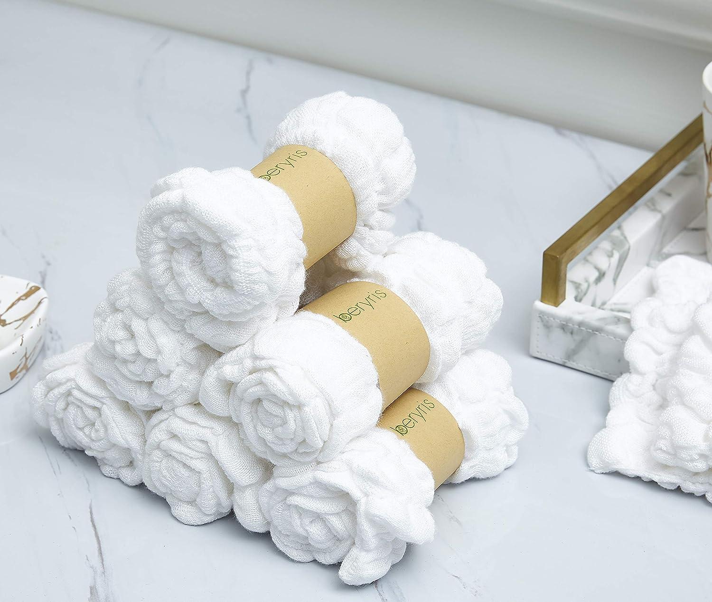 D/ébarbouillettes de Bambou B/éb/é 6 paquets Ultra Douces serviettes super absorbantes Doux sur la peau sensible pour les nourrissons les tout petits Naturellement antibact/érien