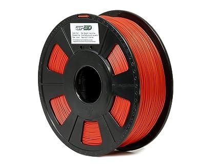 gp3d Pla rojo 3d impresora filamento - 1 kg 1,75 mm. (Compatible ...