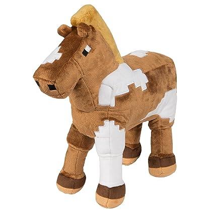 Amazon Com Jinx Minecraft Horse Plush Stuffed Toy Multi Color 13