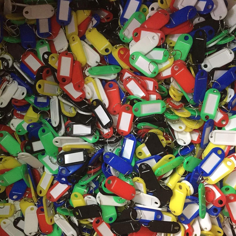 colori misti confezione da 100 200 Etichette identificative per chiavi 500 1000 pezzi