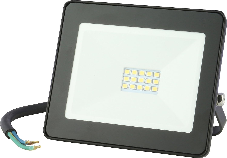10W LED Strahler normalweiß Baustrahler IP65 Scheinwerfer außen Baustelle Fluter