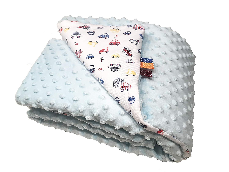 super weich 100/% Baumwolle im Geschenkkarton Gr/ö/ße Blau Autos Milusie Babydecke Kuscheldecke Krabbeldecke 75 x 100 cm