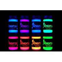(20ml) - Midnight Glo UV Paint Acrylic Black Light Reactive Bright Neon Colours Set of 8 Bottles Great for Crafts, Art & DIY Projects, Blacklight Party(20ml)