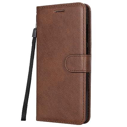Funda Xiaomi Pocophone F1/Poco F1, Negocios de lujo Flip Cover Cartera de cuero