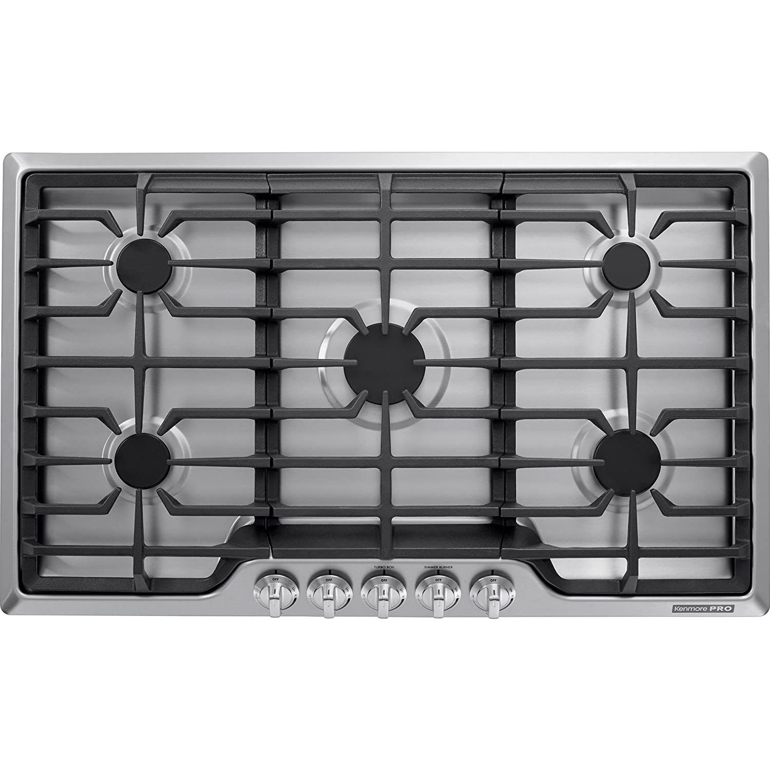 Kenmore PRO 34423 36' 5 Burner Gas Cooktop in Stainless Steel, includes delivery and hookup Sears Brands Management Corporation (Kenmore) 02234423