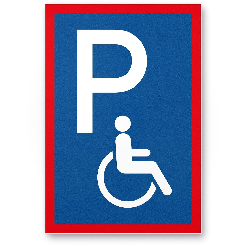 Aparcamiento minusvá lidos, Cartel de aparcamiento de minusvá lidos (Azul, 20 x 30 cm), Cartel de Advertencia Cartel de aparcamiento para discapacitados, Aparcamiento Reservado –  para silla de ruedas, Aparcamien