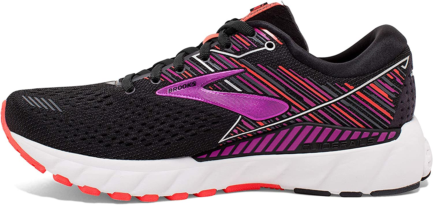 Brooks Australia Women's Adrenaline GTS 19 Road Running Shoes Black/Purple/Coral